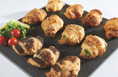 assorted savoury croissants